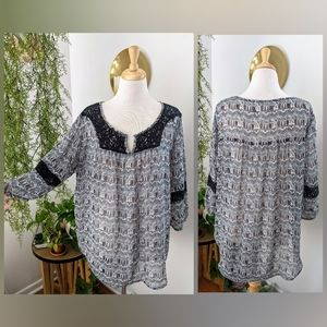 Mossimo   Printed 3/4 Sleeve Blouse   XXL